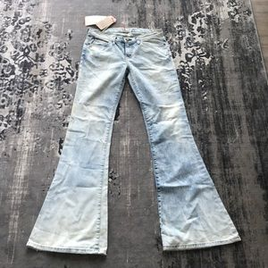 NWT Current Elliott Bell Flare Jeans SZ 27 $288
